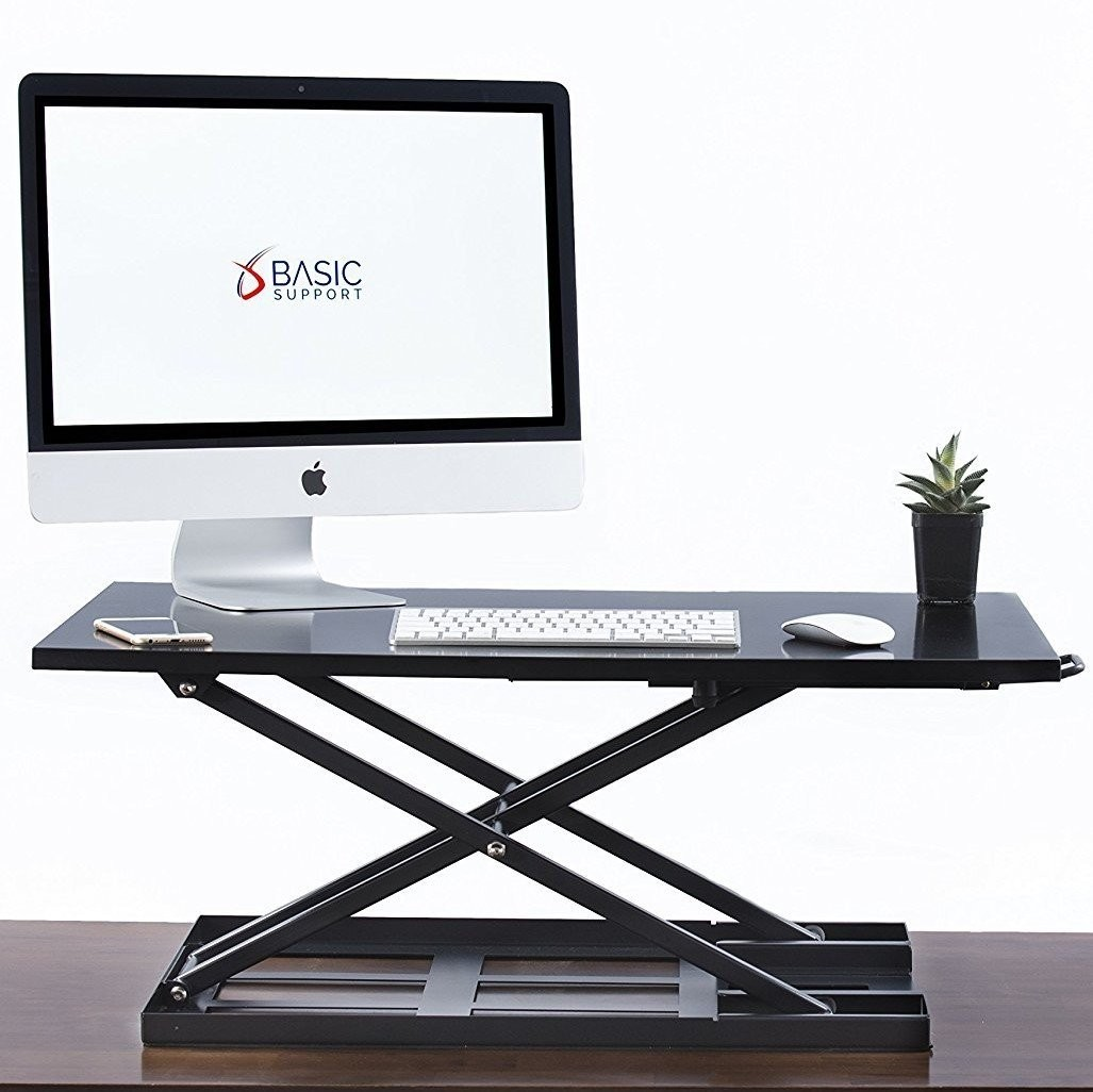 Table jack Standing desk converter - 32 X 22 inch Extra large Ergonomic height adjustable