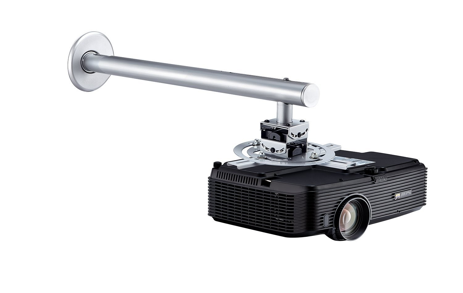 "Projector Universal Wall Mount up to 23"" Extension from Wall, Tilted up and down 12 degree and Precisely  tightly locked"