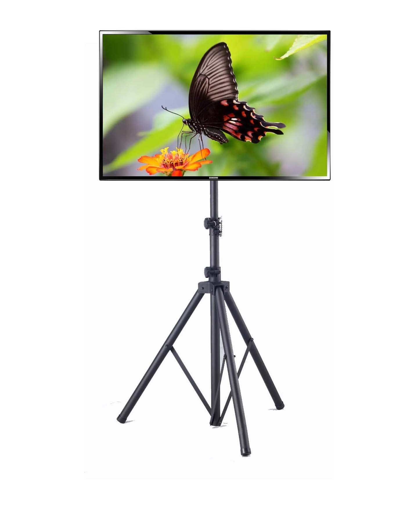 "Portable Plasma and LCD TV Tripod Stand for up to 55"" TV, Max Stand Height 78.7"""