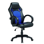 Elitech K-8850R Executive Racing Style Computer Gaming Office Chair (Blue/black)