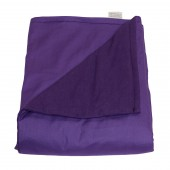 "Small Weighted Blanket - Purple - Cotton/Flannel (48""L x 30""W) (4 lbs for 30 lb person)"