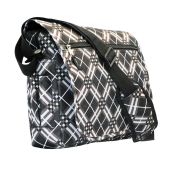 Expandable Notebook Bag Black and White
