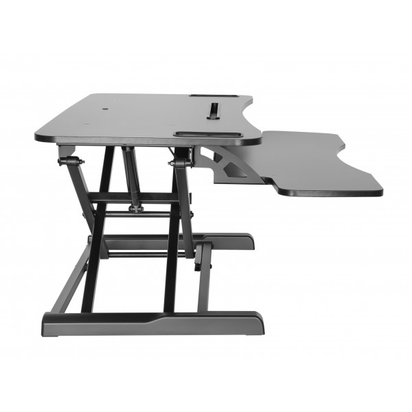 Elitech Sit and Stand Desk Converter with retractable